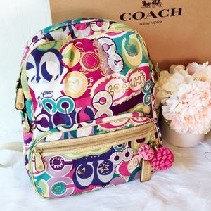 🌸🌸Coach Multi color Large Backpack🌼🌼
